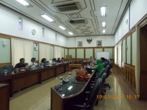 Pertemuan pengurus PJS (Perhimpunan Jiwa Sehat) dengan Komisioner KPU