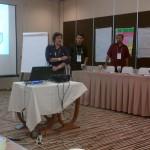 Fasilitator memberikan materi pelatihan kepada KPU dan Bawaslu