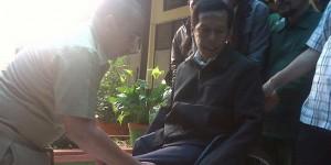 Djumono, tunadaksa yang mendaftarkan diri sebaagai calon anggota DPD Jawa Barat